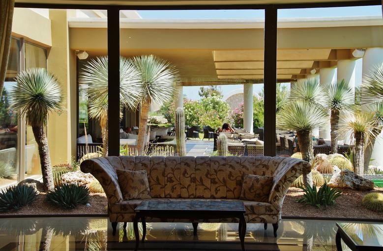 Veľké priestranné okná, gauč, palmy, luxusné bývanie.jpg