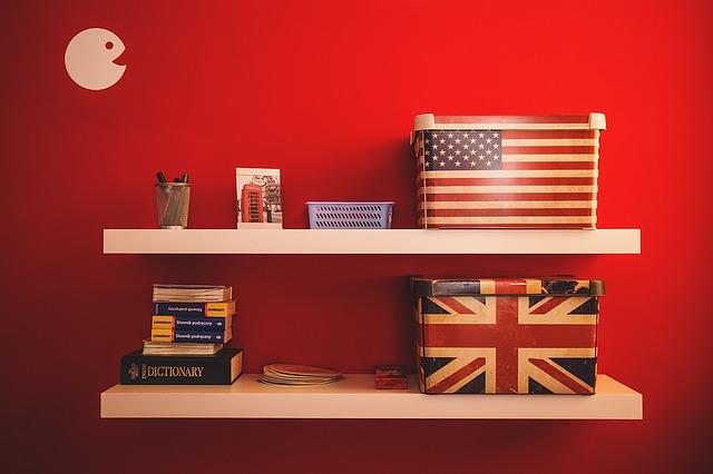polička anglická vlajka