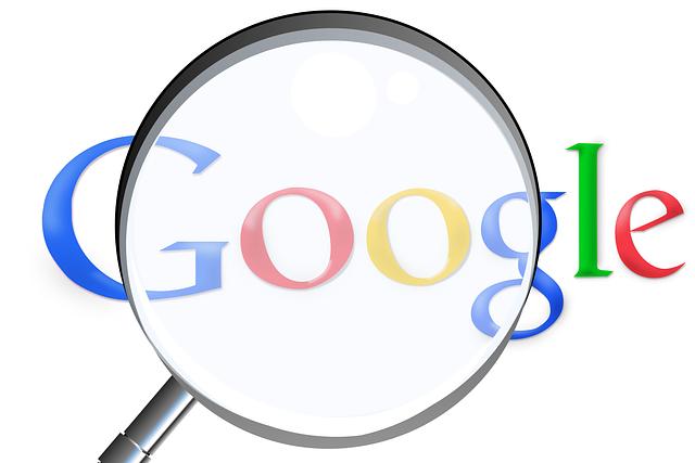 Google vyhľadávač,lupa